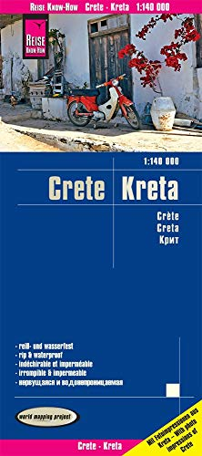 Reise Know-How Landkarte Kreta / Crete (1:140.000): reiß- und wasserfest (world mapping project