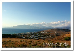 Blick auf Kalamaki am späten Nachmittag