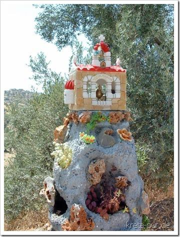 Noch eine Ikonostase; irgendwo im Süden Kretas
