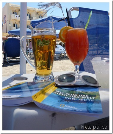 Sommerliches Stillleben am Strand von Kalamaki, Kreta