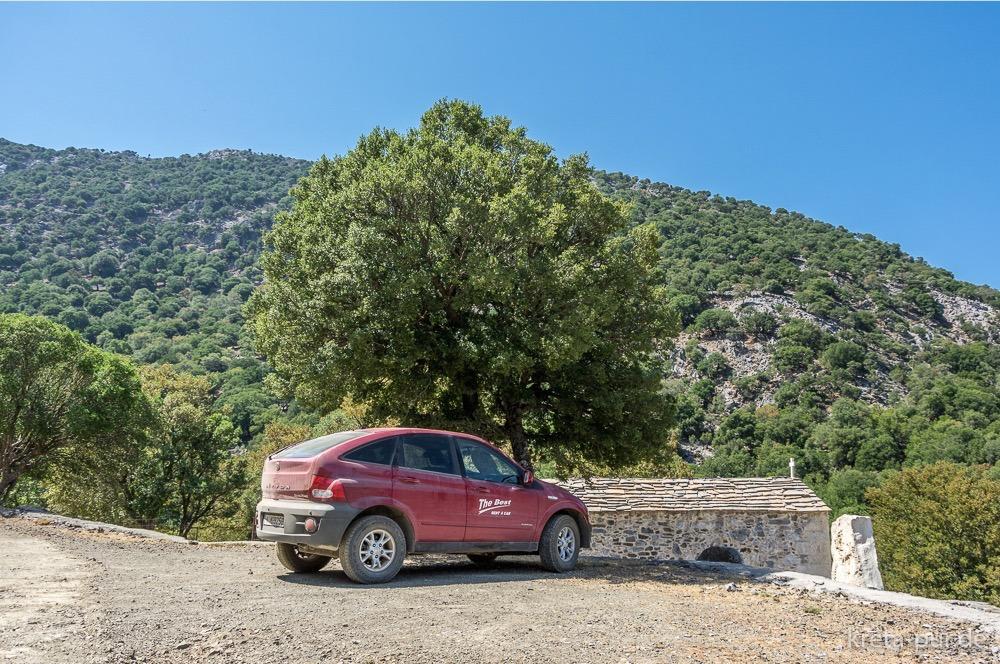 The Best Car Rental, Ssangyong Actyon 4x4, oberes Rouvas-Plateau