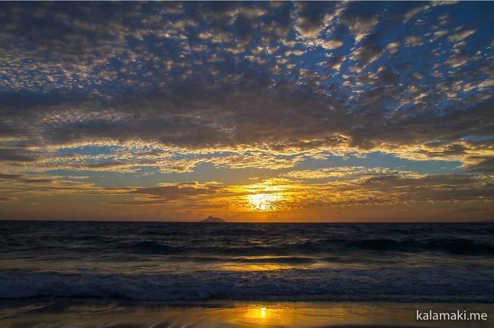 Kreta - Sonnenuntergang in Kalamaki - Das Wetter ist momentan dort jedenfalls besser