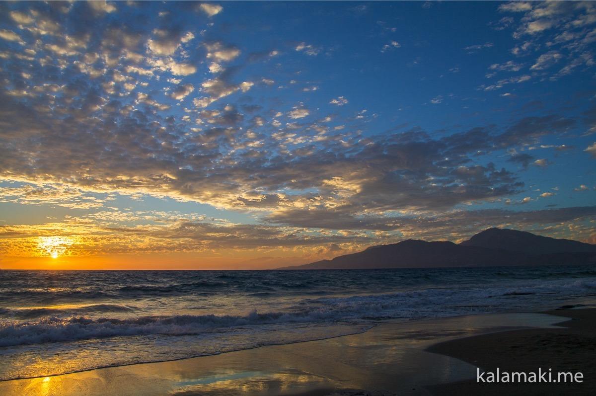 Kreta - Sonnenuntergang in Kalamaki