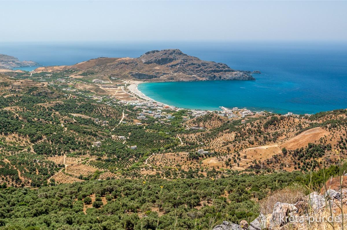 Blick auf Plakias im Süden Kretas