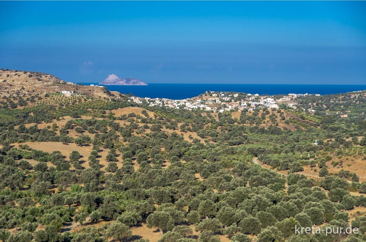 Kreta - Blick über die Messara auf das Meer