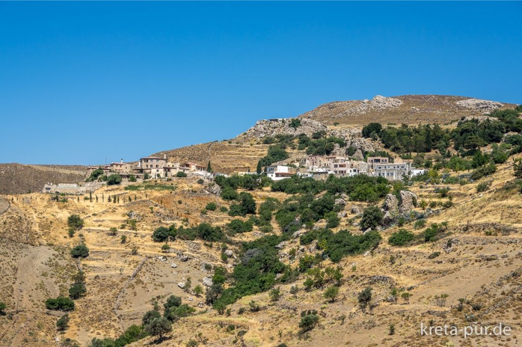 Kretische Landschaften, hier der Blick auf Kapetaniana