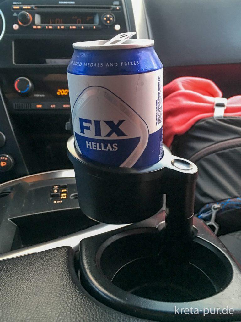 Wichtiges Ausstattungsdetail: Der Getränke-Halter