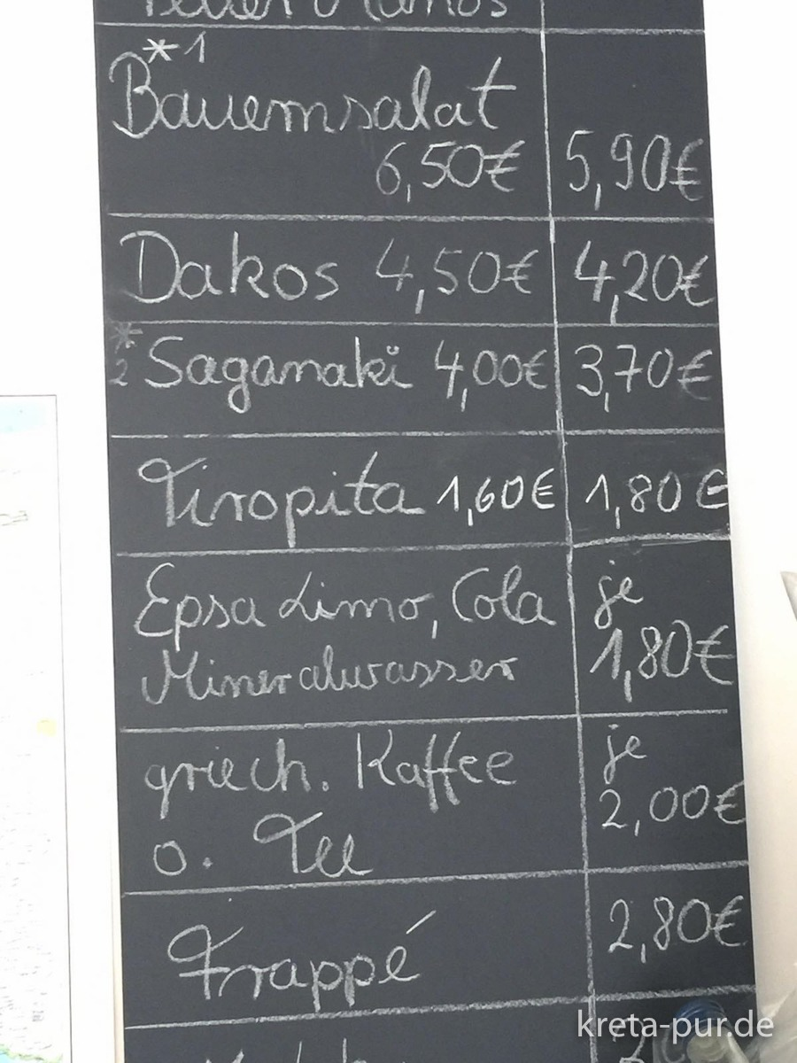 Karte bei Jassas, griechische Feinkost, Paderborn