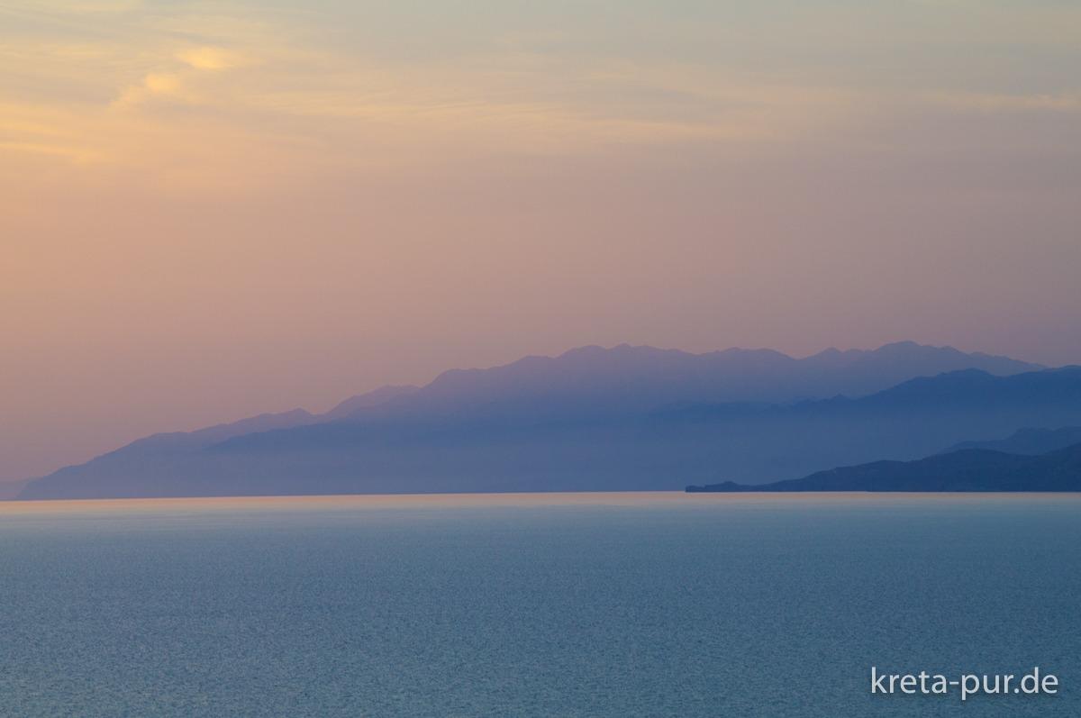 Abendstimmung im Süden Kretas, Kalamaki