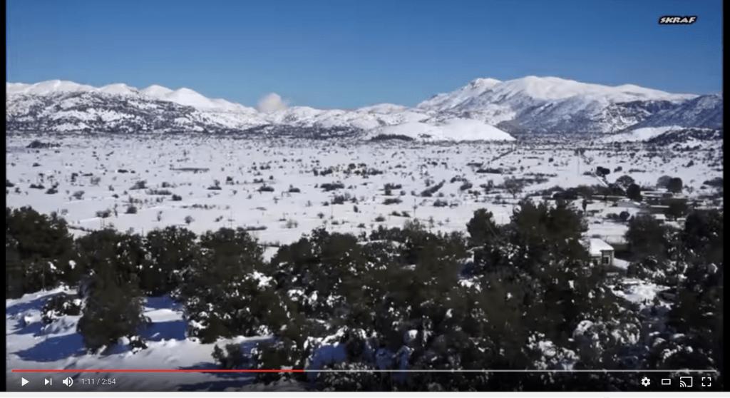 Screenshot Video Lassithi Kreta im Schnee
