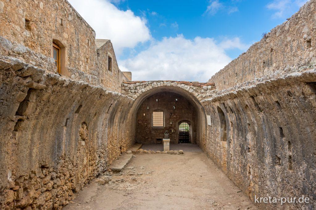 Kloster Arkadi, gesprengte Pulverkammer