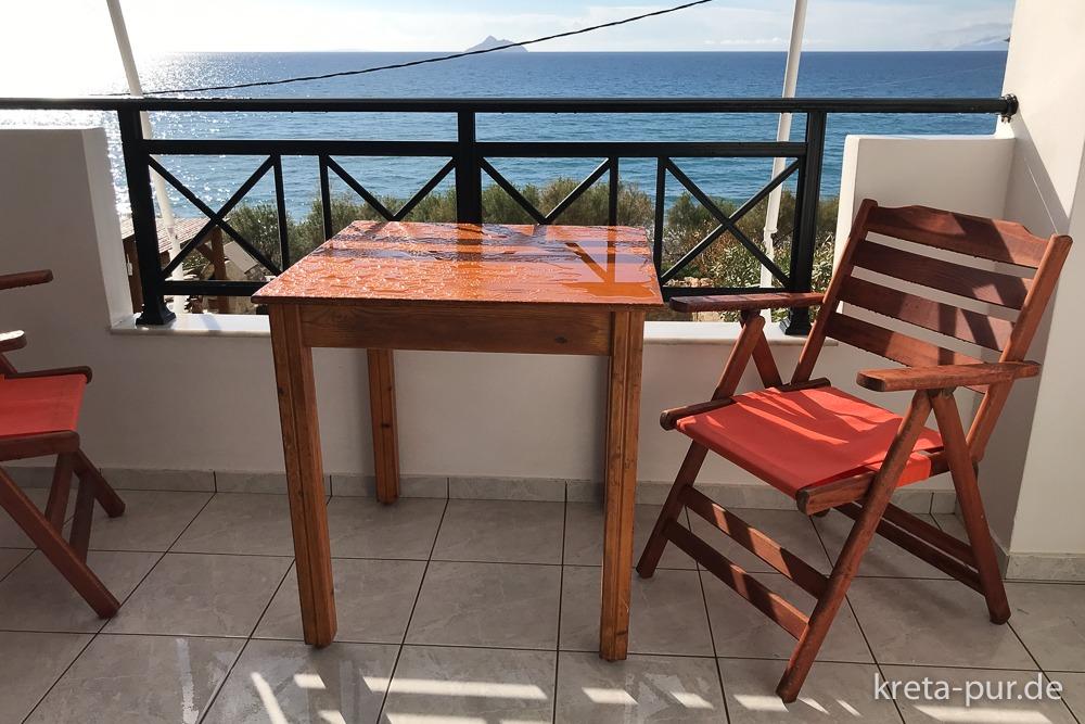 Apartments Finikas - Blick vom Balkon