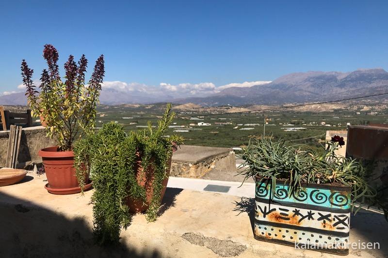 Botano in Kouses, Ausblick von der Terrasse