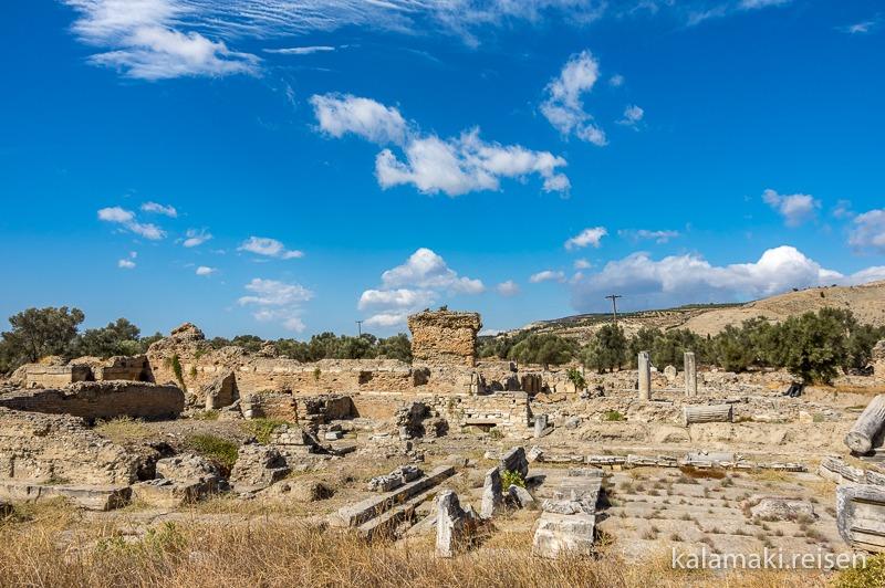 Im südlichen Teil der Ausgrabung von Gortys