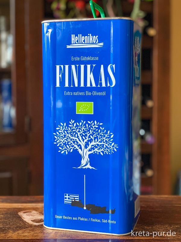 Finikas Bio Olivenöl von Hellenikos