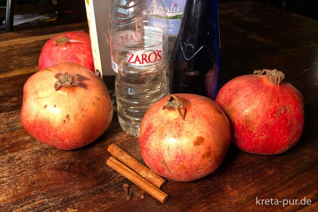 Granatapfel-Likör - unsere Zutaten