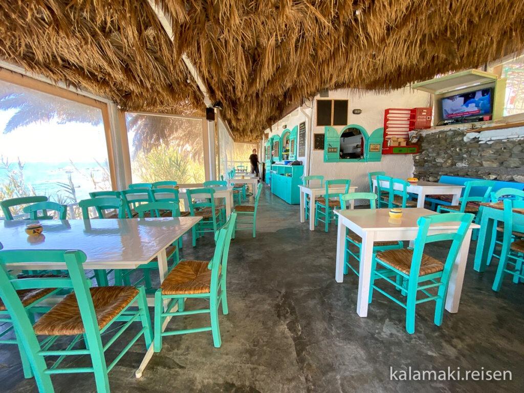 Unsere Lieblings-Strandtaverne im Süden: Taverne Agios Georgios - nur auf Schotterpiste erreichbar